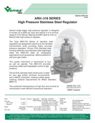 Stainless Steel High Pressure Regulators